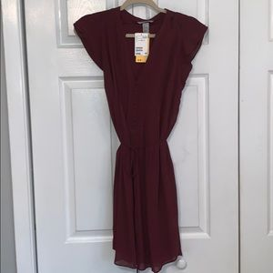 H&M wrap dress with butterfly sleeve